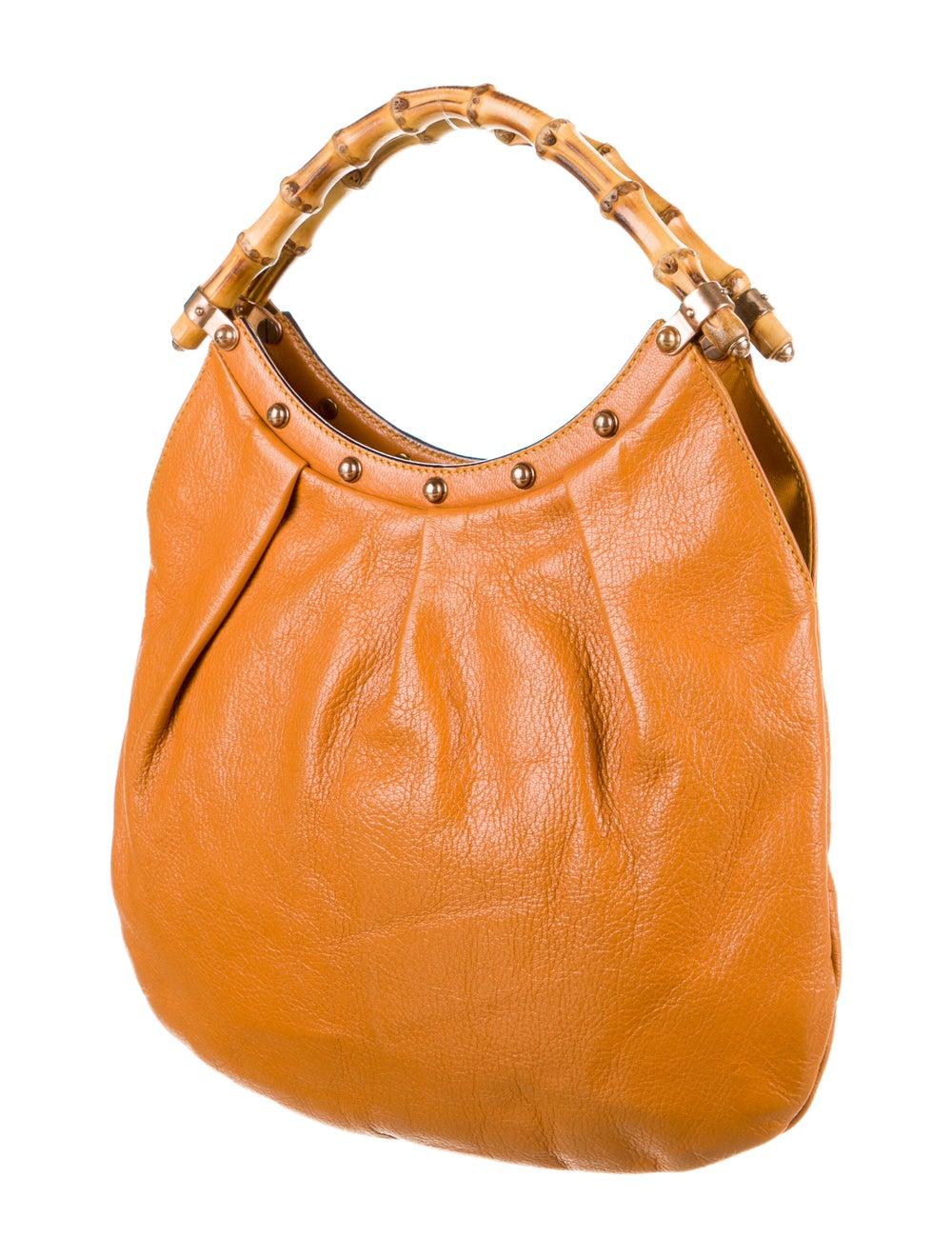 Gucci Leather Diana Bamboo Hobo Orange - image 3