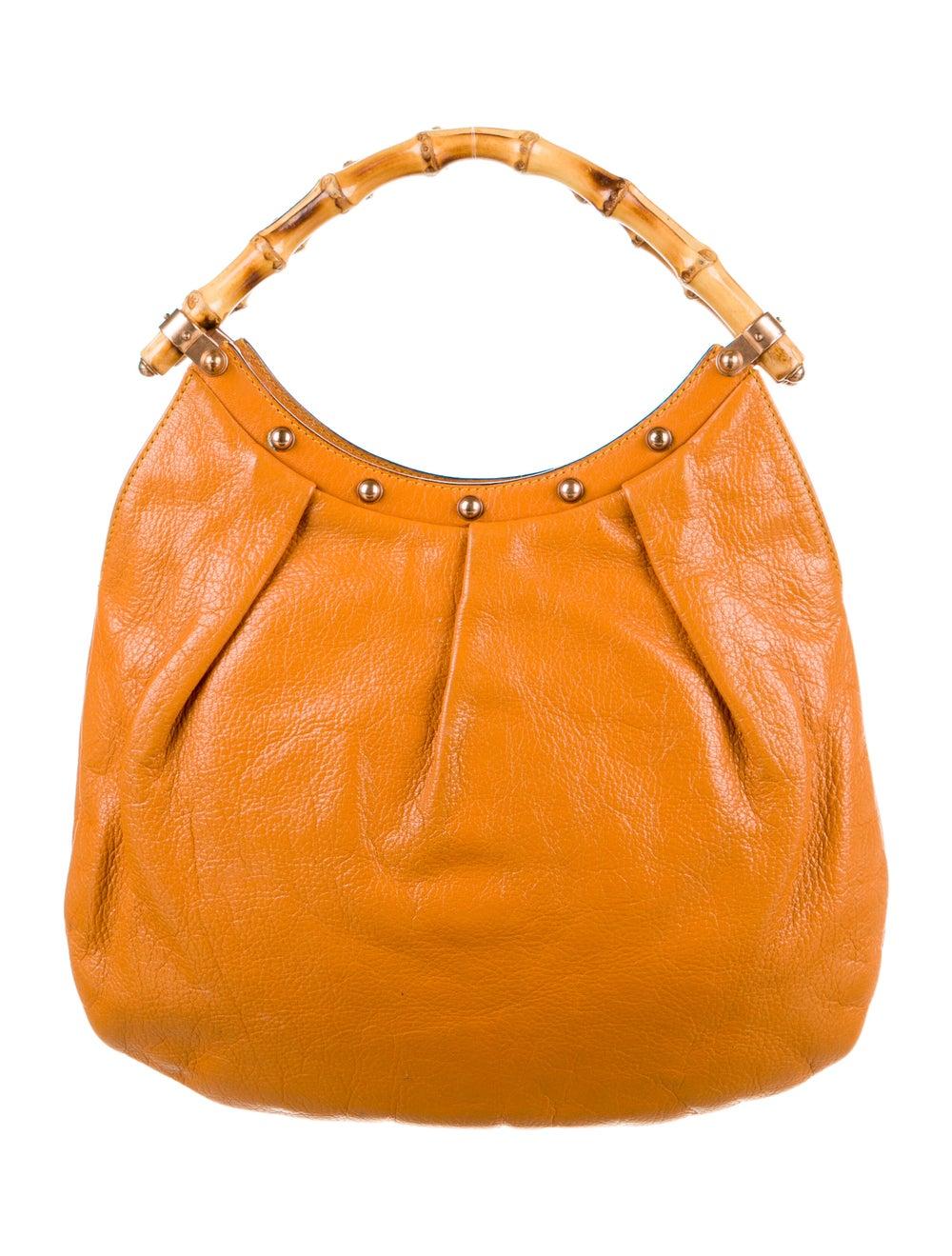 Gucci Leather Diana Bamboo Hobo Orange - image 4
