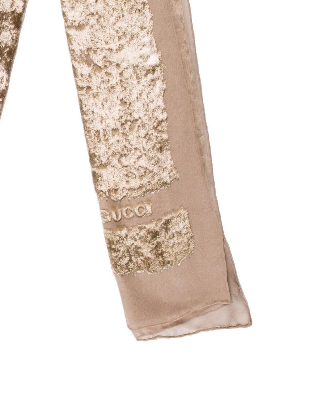Gucci Velvet Floral Print Scarf - image 2