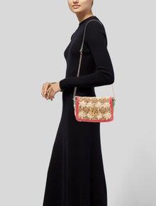 Gucci GG Marmont Raffia Shoulder Bag