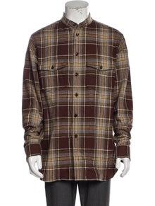 Gucci Wool Plaid Print Shirt w/ Tags