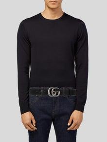 Gucci Interlocking G Logo Leather Waist Belt