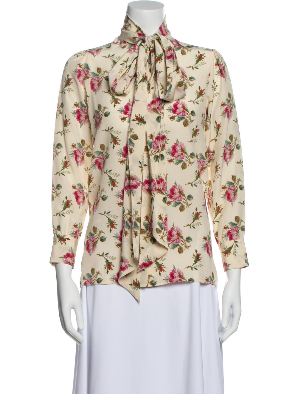 Gucci 2017 Floral Print Silk Blouse w/ Tags - image 1