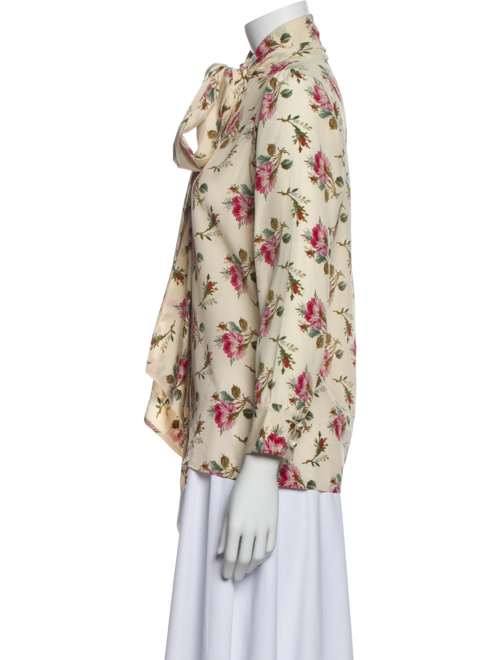 Gucci 2017 Floral Print Silk Blouse w/ Tags - image 2