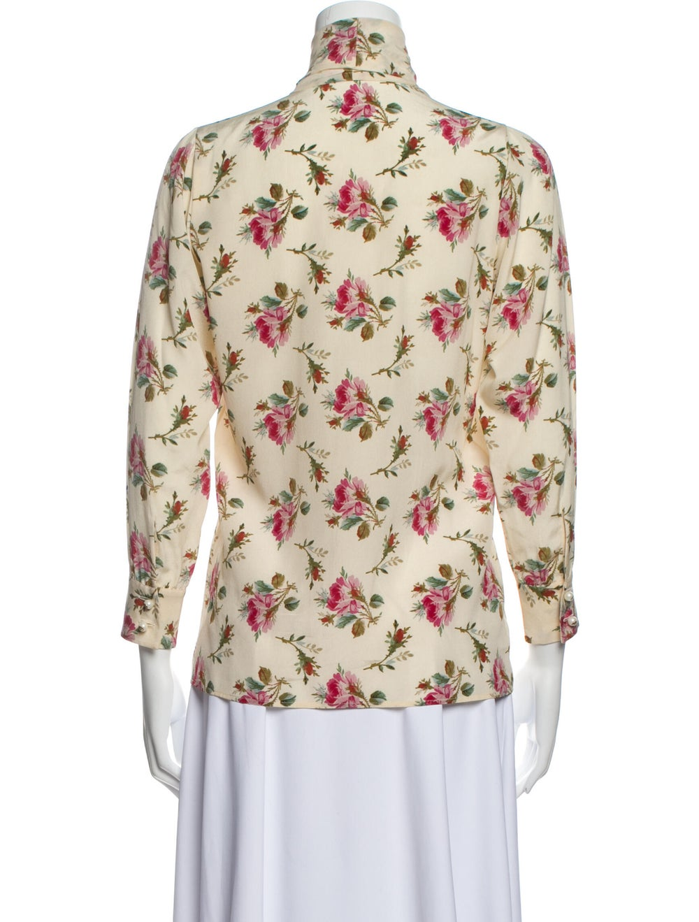 Gucci 2017 Floral Print Silk Blouse w/ Tags - image 3