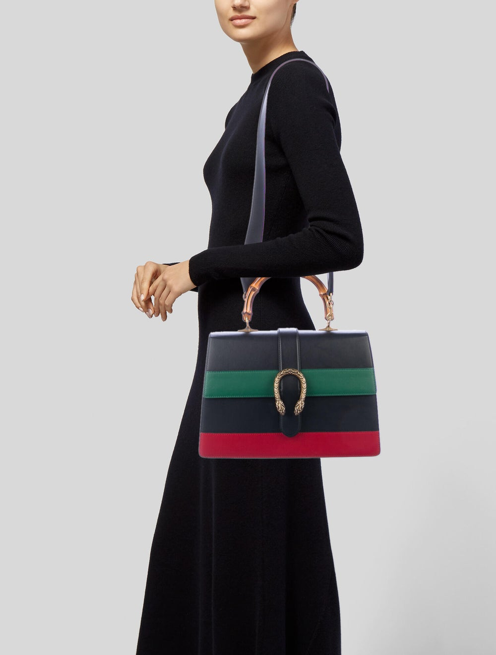Gucci Large Dionysus Bamboo Handle Bag Black - image 2