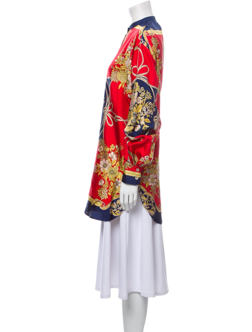 Gucci 2019 Silk Floral Print Tunic w/ Tags Red - image 2