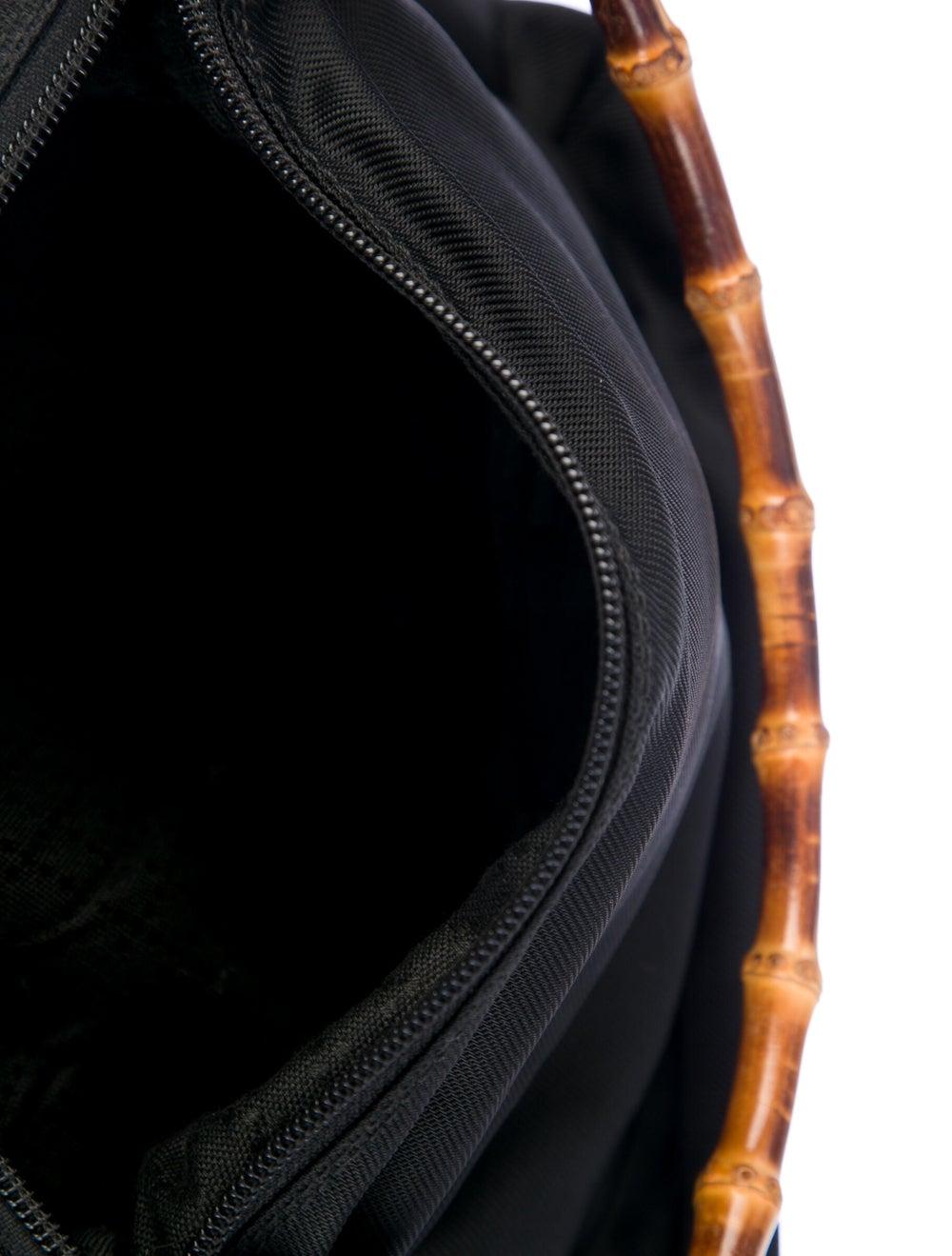Gucci Vintage Nylon Bamboo Shoulder Bag Black - image 5