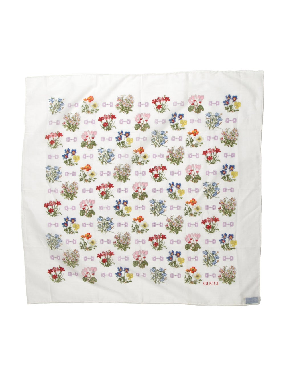 Gucci Floral Print Scarf White - image 1