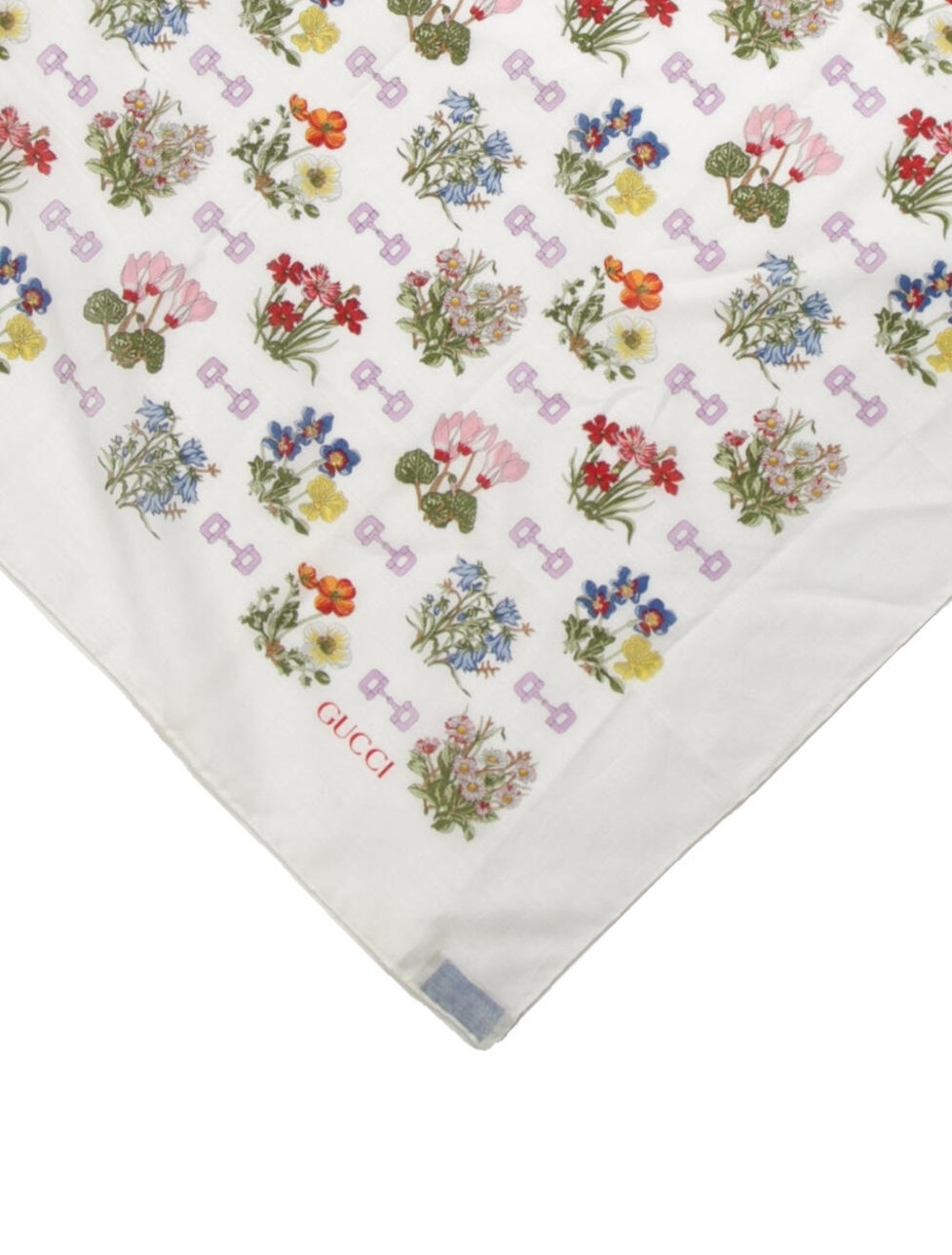 Gucci Floral Print Scarf White - image 2