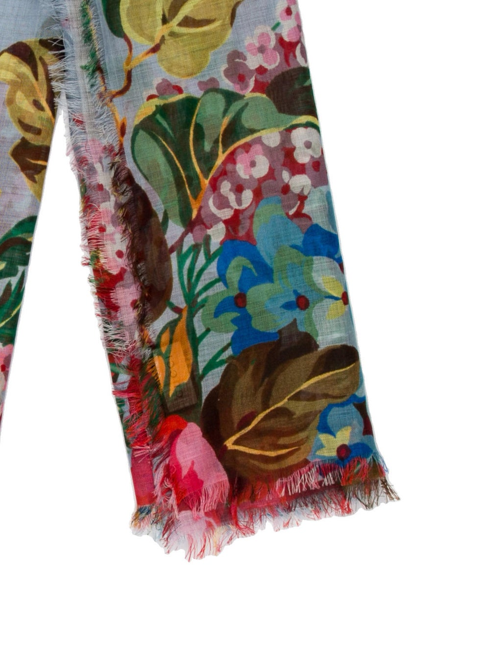 Gucci Floral Print Scarf w/ Tags Blue - image 2
