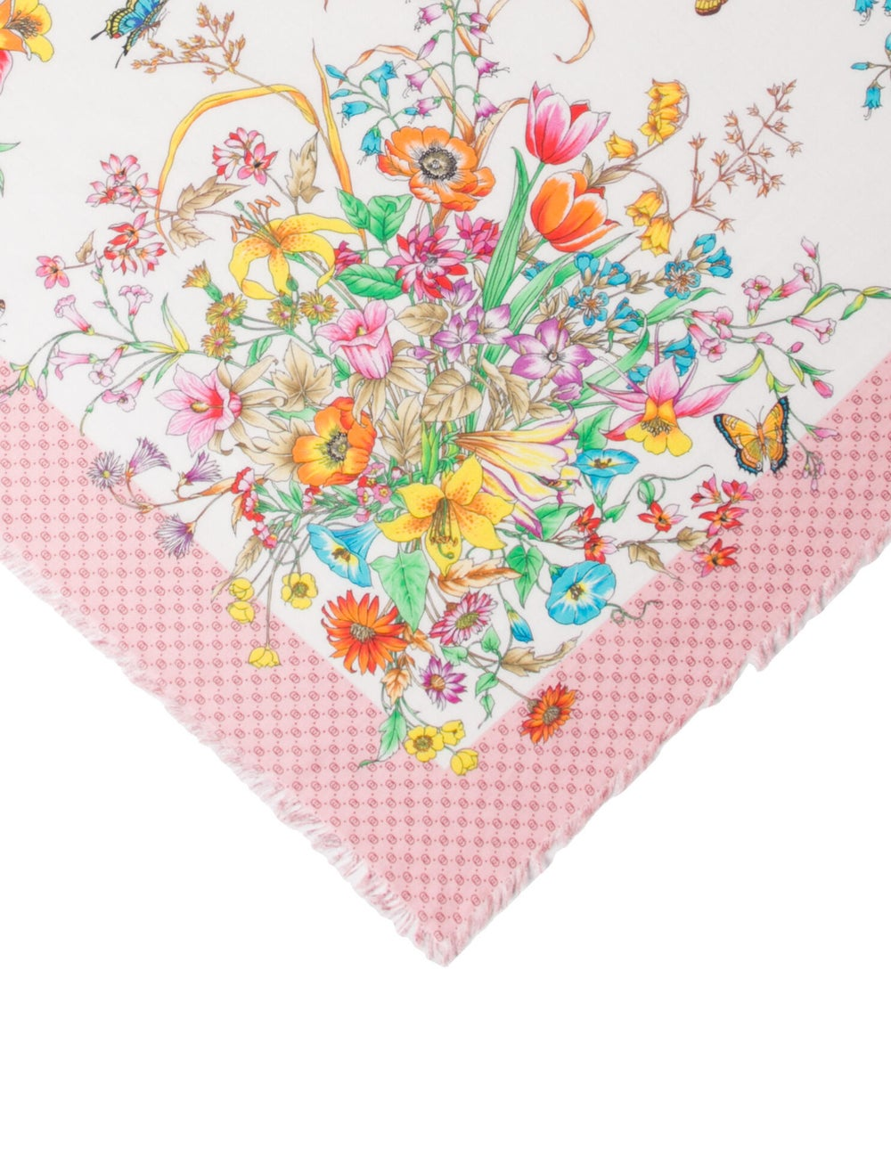 Gucci Floral Print Scarf w/ Tags Pink - image 2