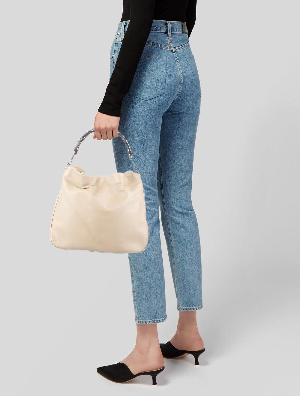 Gucci Medium Diana Bamboo Shoulder Bag Silver - image 2