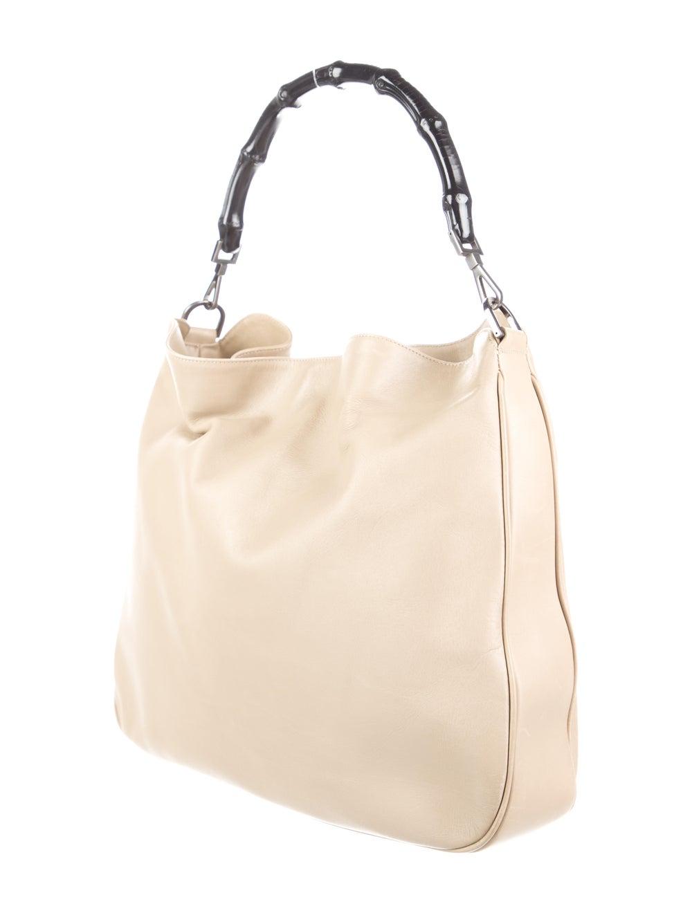 Gucci Medium Diana Bamboo Shoulder Bag Silver - image 3