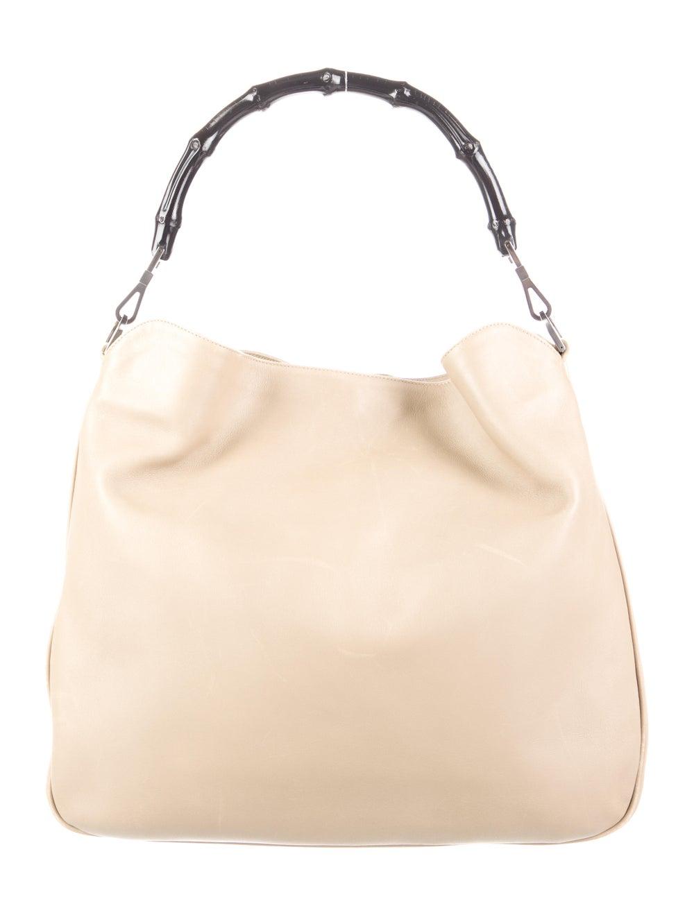 Gucci Medium Diana Bamboo Shoulder Bag Silver - image 4