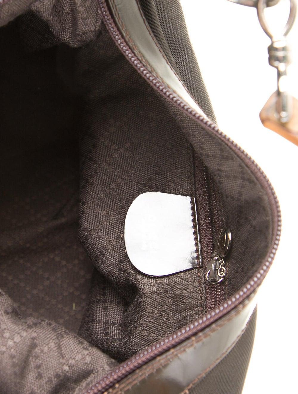 Gucci Vintage Bamboo Nylon Shoulder Bag Brown - image 5