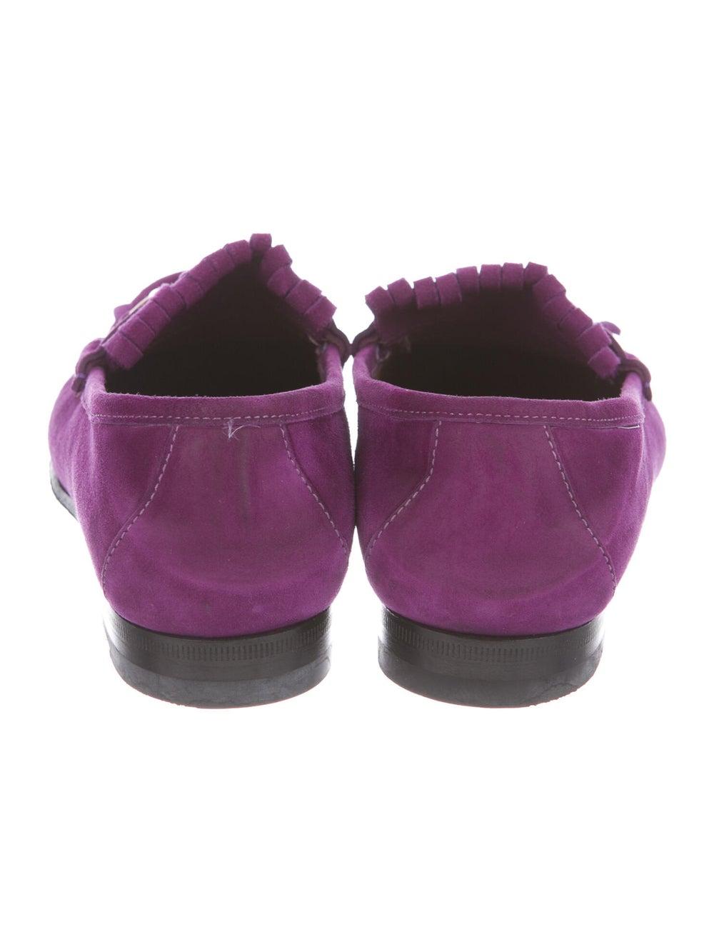 Gucci Horsebit Accent Suede Loafers Purple - image 4