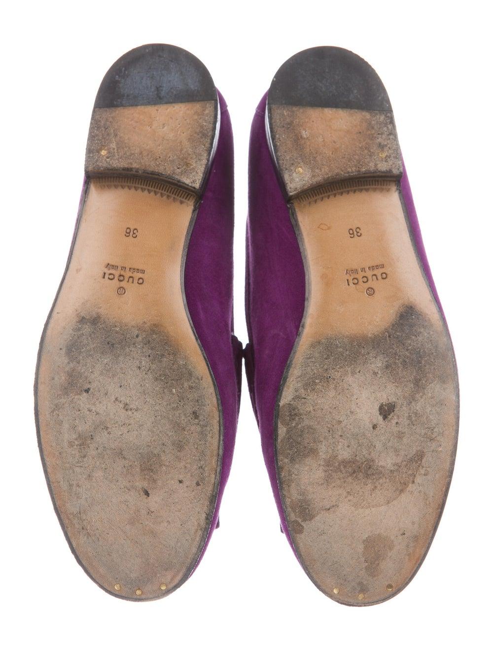 Gucci Horsebit Accent Suede Loafers Purple - image 5