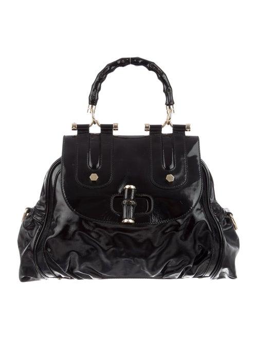 Gucci Dialux Pop Bamboo Bag Black