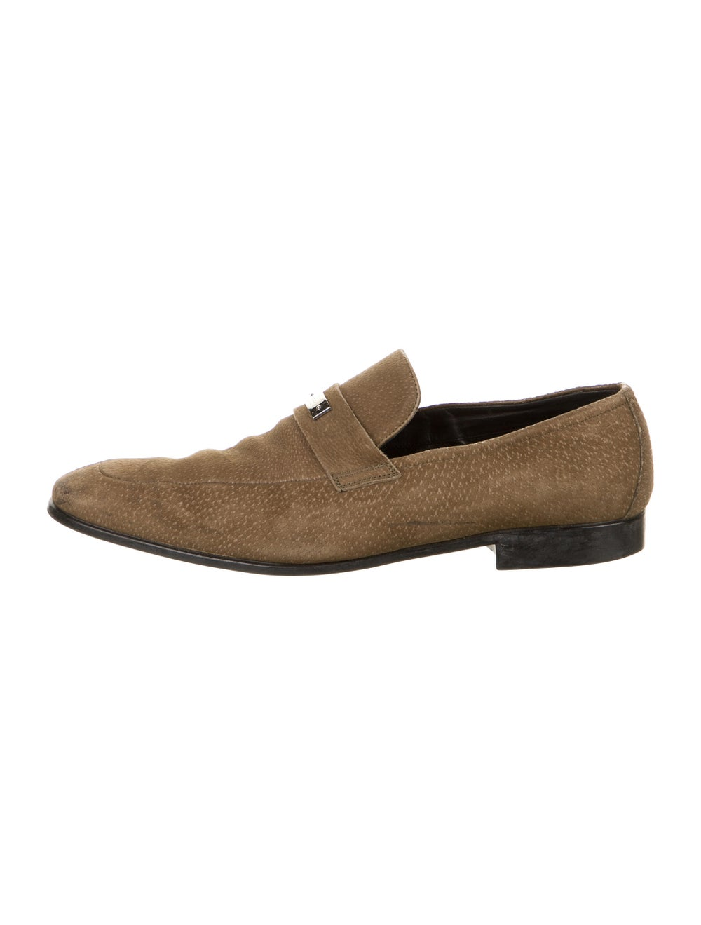 Gucci Suede Dress Loafers Green - image 1