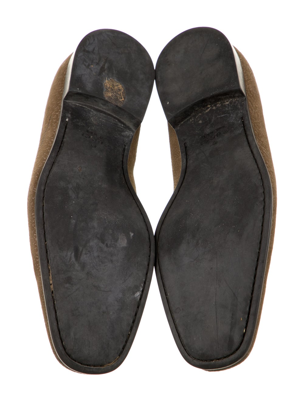 Gucci Suede Dress Loafers Green - image 5