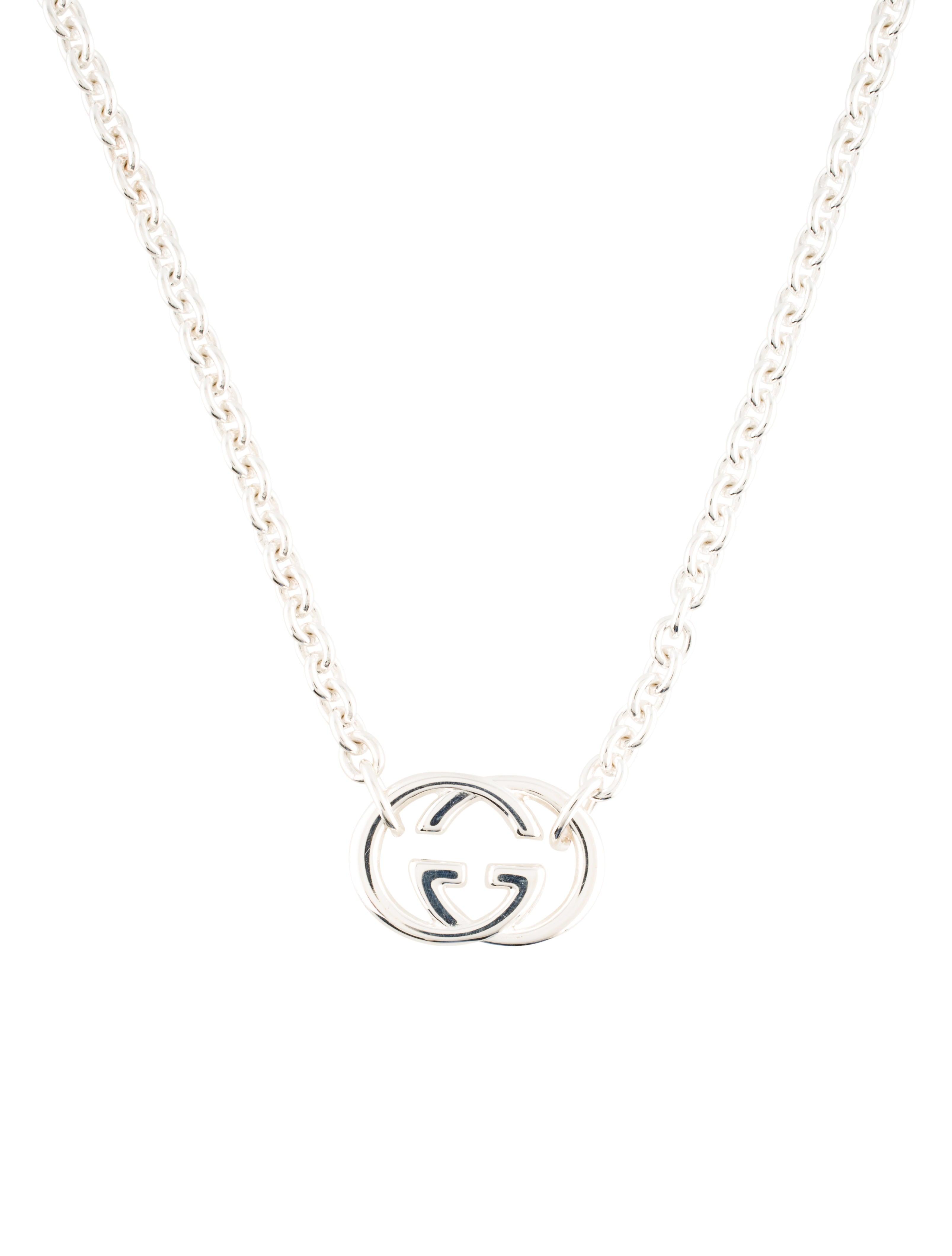 2d096b0214e02b Gucci Interlocking G Pendant Necklace - Necklaces - GUC72769 | The ...