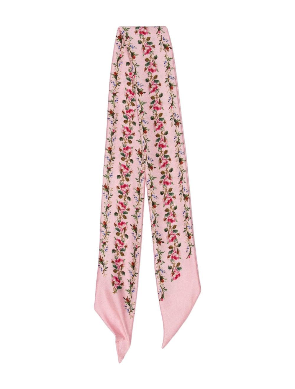 Gucci Silk Floral Print Bandeau Pink - image 1