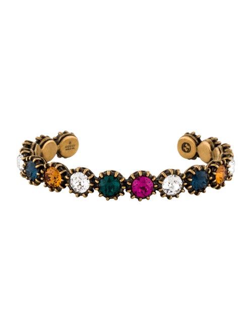 Gucci Multicolor Crystal Cuff Gold