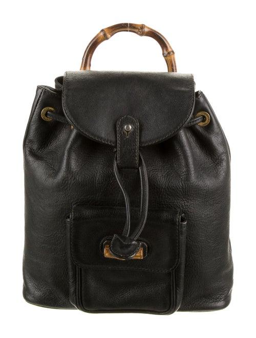 Gucci Vintage Bamboo Mini Backpack Black
