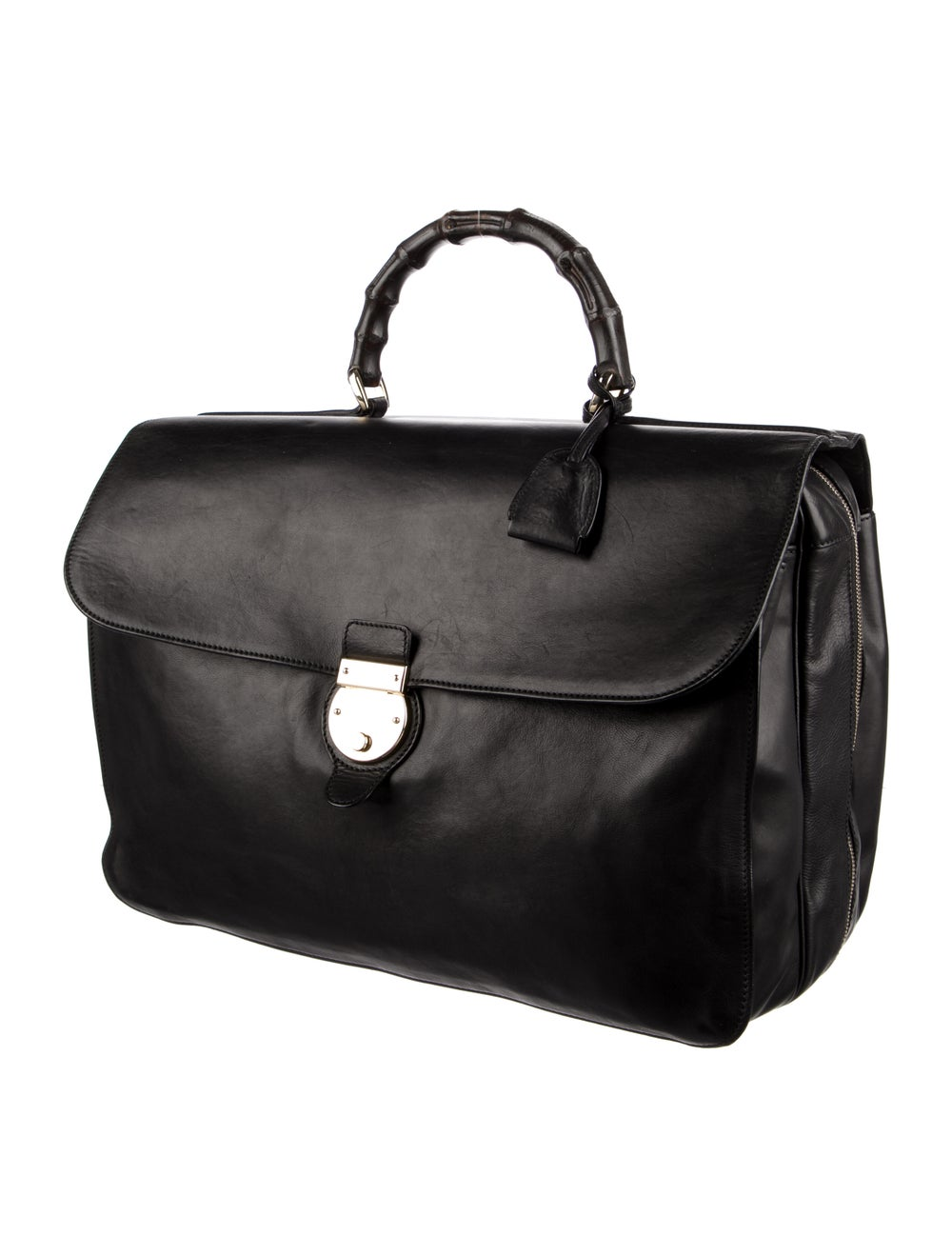 Gucci Bamboo Handle Soft Briefcase Black - image 3