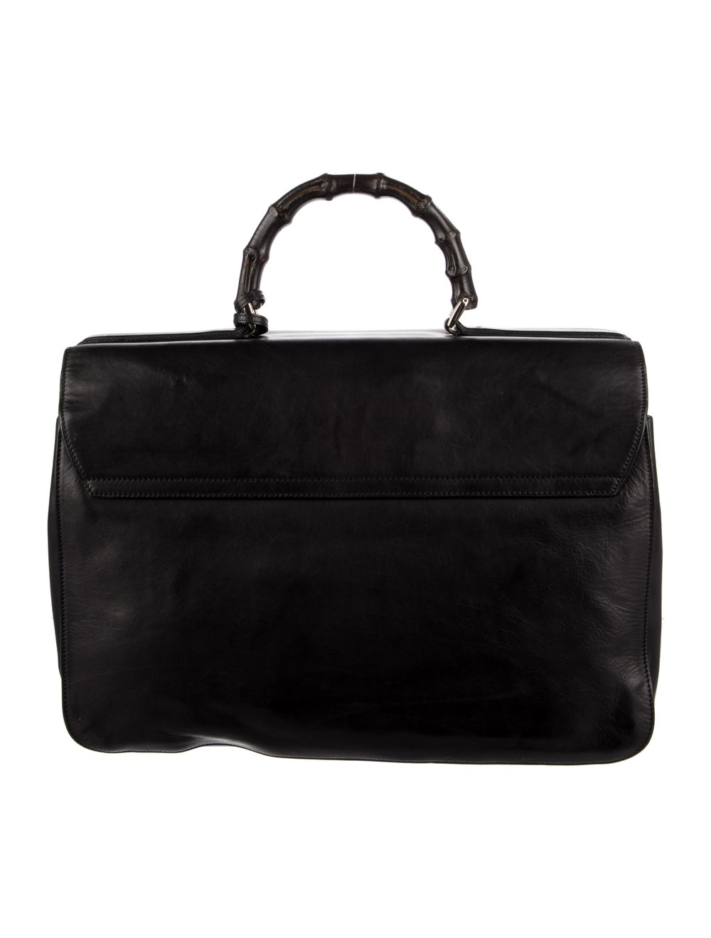 Gucci Bamboo Handle Soft Briefcase Black - image 4