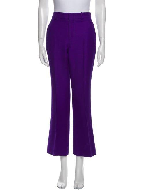 Gucci Wide-Leg Wide Leg Pants Purple