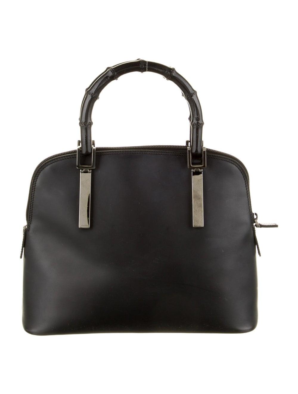 Gucci Bamboo Top Handle Bag Black - image 4