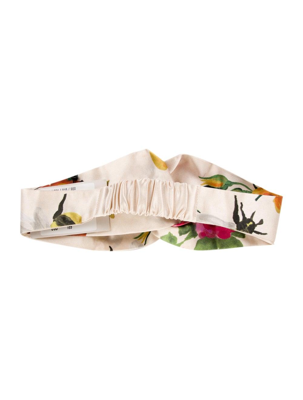 Gucci Floral Silk Headband w/ Tags Cream - image 2