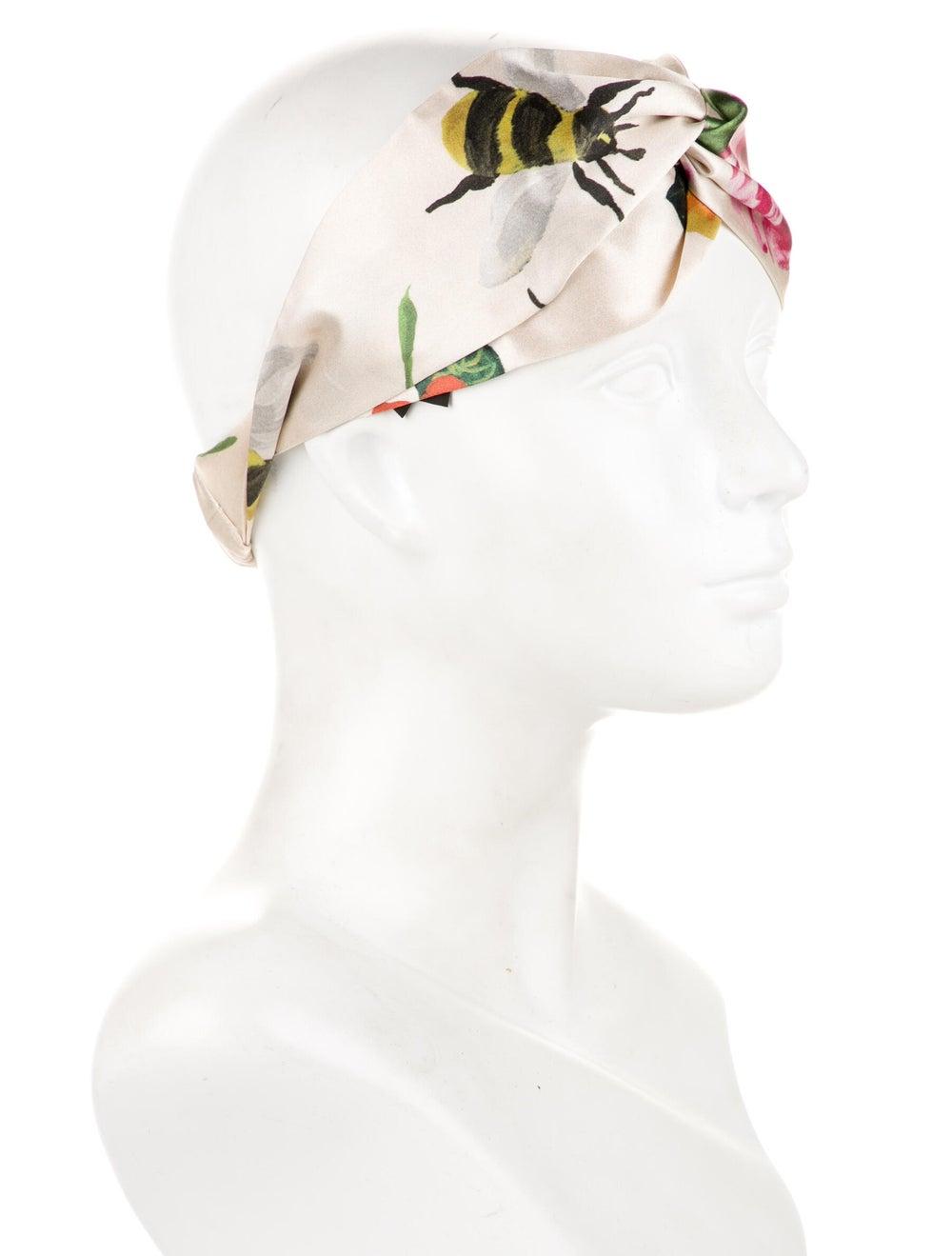 Gucci Floral Silk Headband w/ Tags Cream - image 3