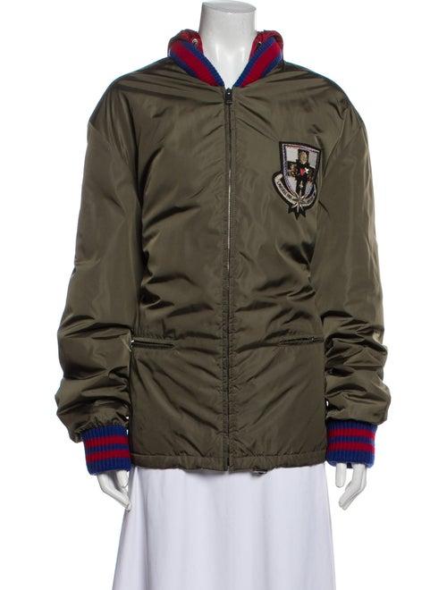 Gucci Nylon Ace Hooded Bomber Varsity Jacket Color
