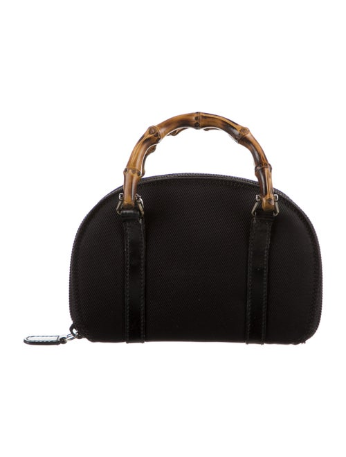 Gucci Vintage Mini Bamboo Handle Bag Black - image 1