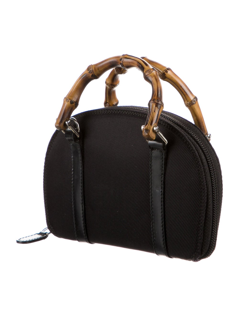 Gucci Vintage Mini Bamboo Handle Bag Black - image 3