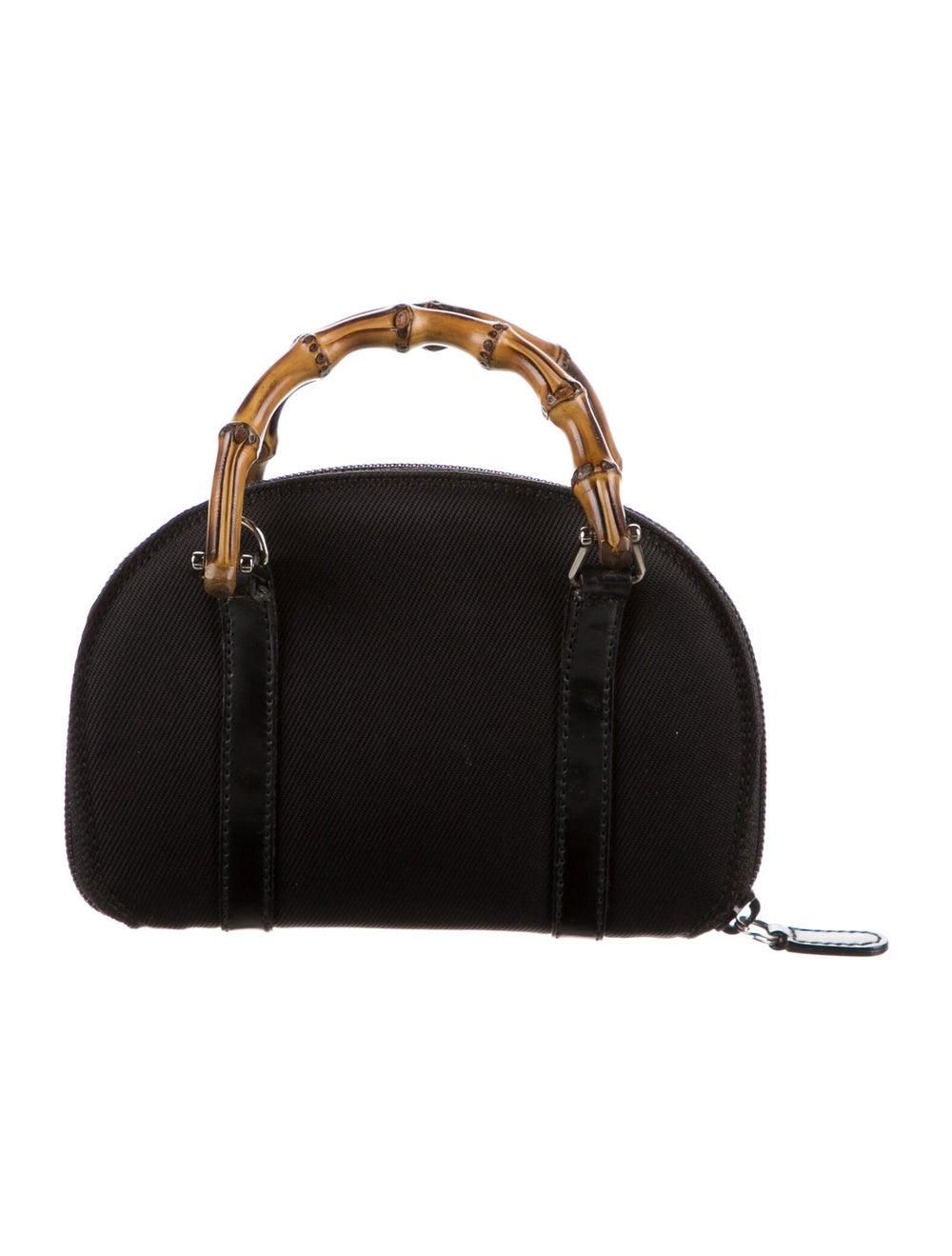 Gucci Vintage Mini Bamboo Handle Bag Black - image 4