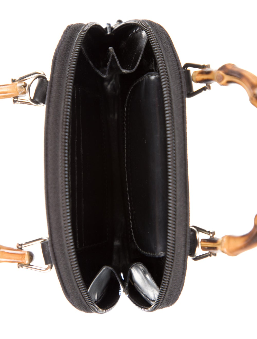 Gucci Vintage Mini Bamboo Handle Bag Black - image 5