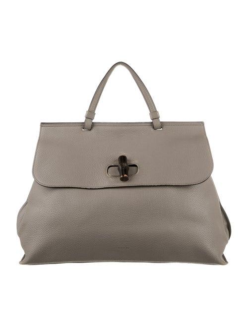 Gucci Large Daily Bamboo Handle Bag Grey