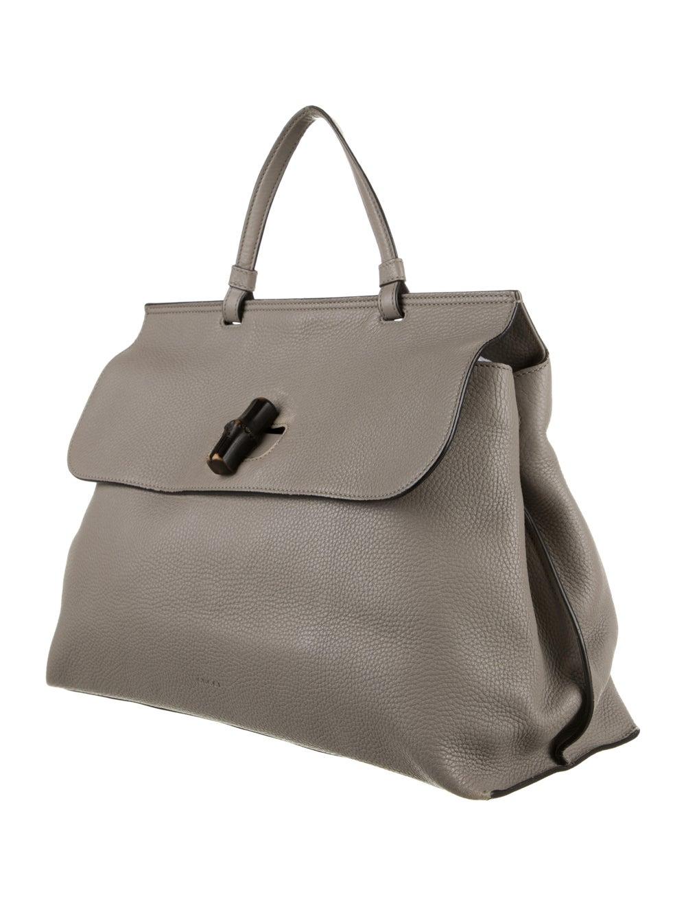 Gucci Large Daily Bamboo Handle Bag Grey - image 3