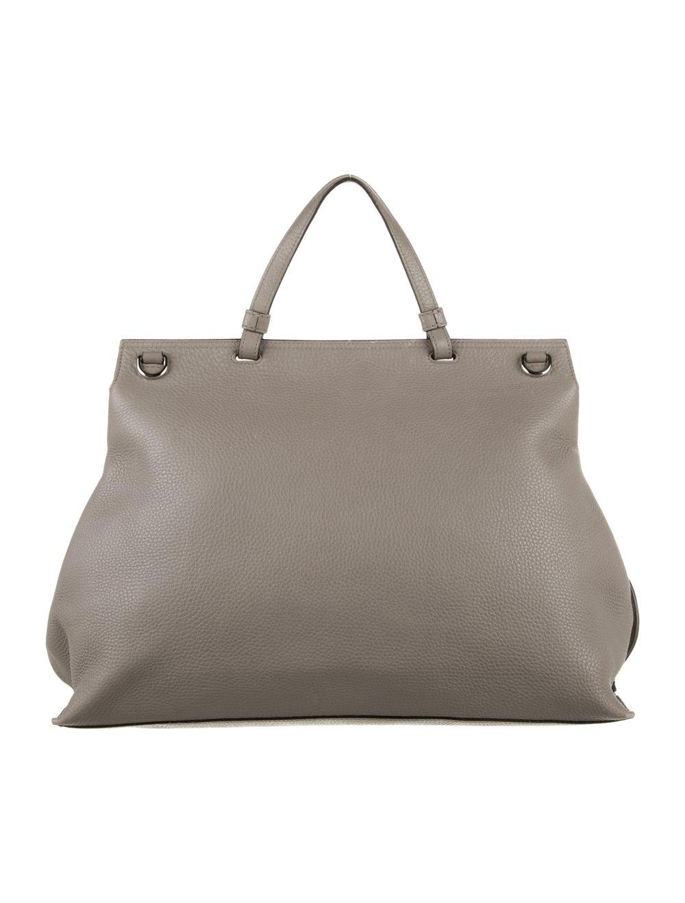 Gucci Large Daily Bamboo Handle Bag Grey - image 4