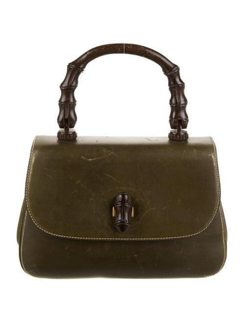 Gucci Vintage Bamboo Handle Bag Green