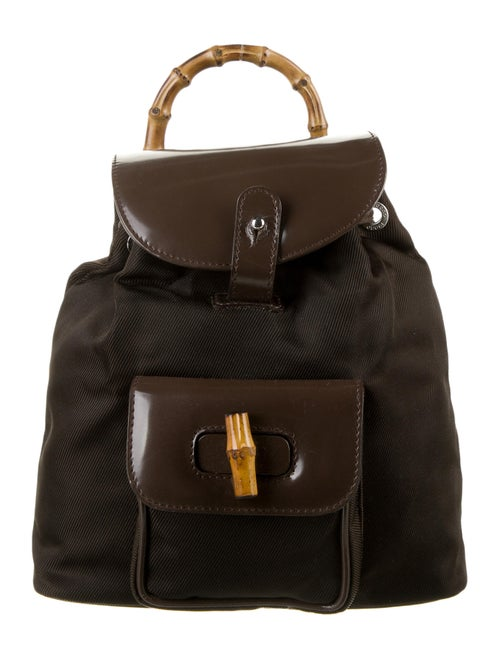 Gucci Vintage Mini Bamboo Backpack Brown