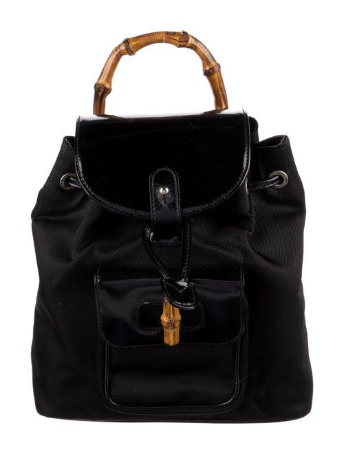 Gucci Vintage Mini Bamboo Backpack Black