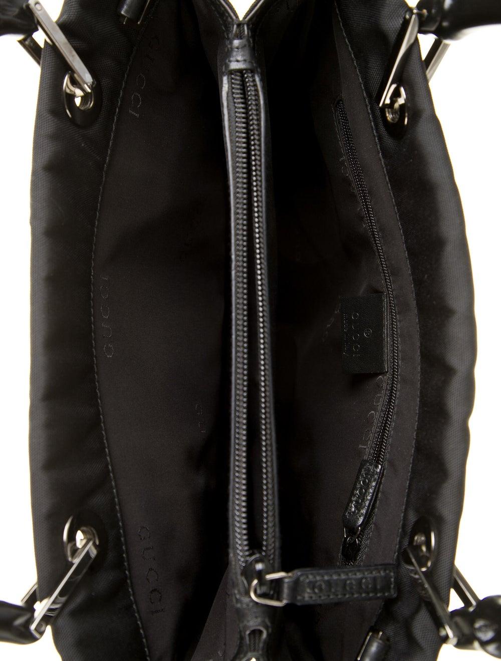Gucci Bamboo Nylon Tote Black - image 5