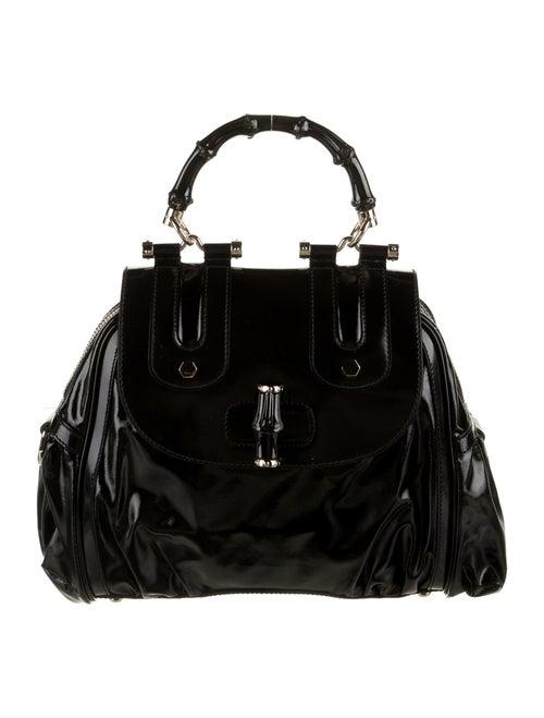 Gucci Pop Bamboo Handle Bag Black - image 1