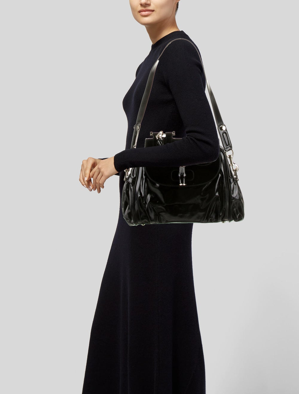 Gucci Pop Bamboo Handle Bag Black - image 2