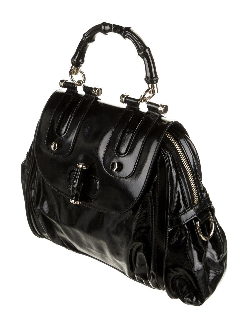 Gucci Pop Bamboo Handle Bag Black - image 3